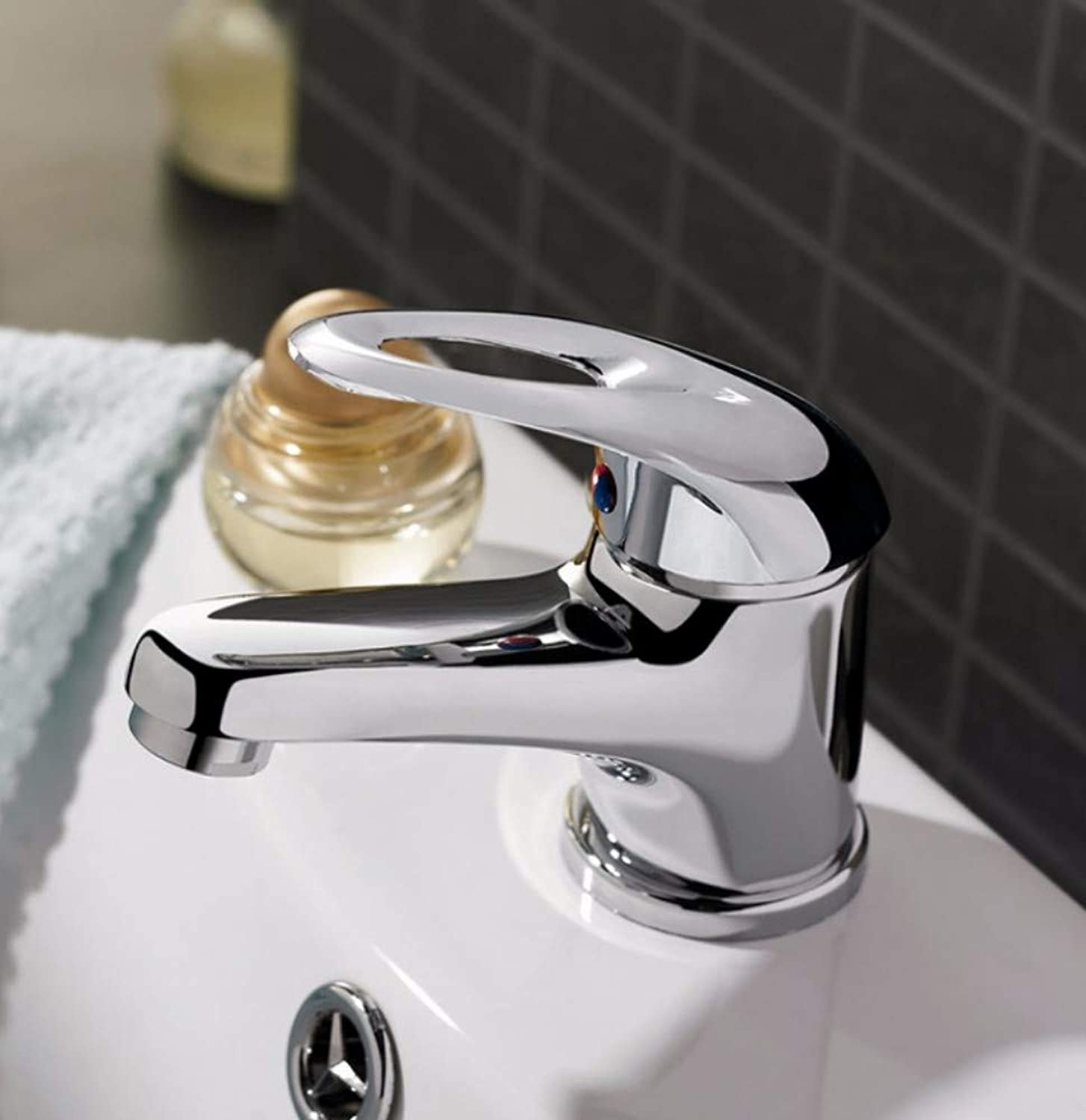 Zlxzlx Classic Style Basin Faucet Deck Mounted Cold and Hot Water Mixer Single Handle