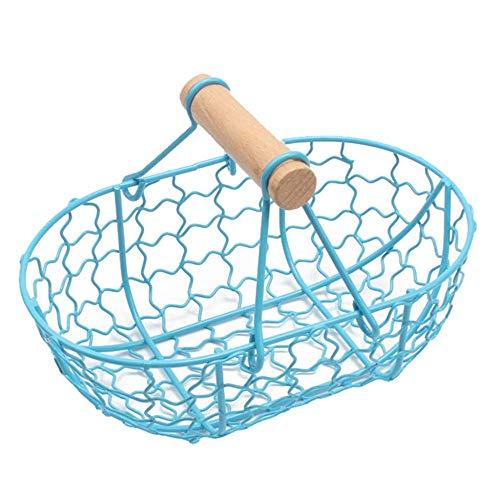 N\C Cesta de hierro duradero para pan de metal antiguo, cesta de almacenamiento de alimentos, contenedor de frutas y verduras, bandeja de almacenamiento organizador de cocina