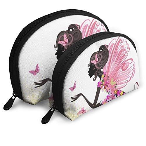 Beaux Papillons Fille Maquillage Sac De Voyage Sacs Petit Shell Sac Portable Trousse De Toilette Pochette 2 Pcs