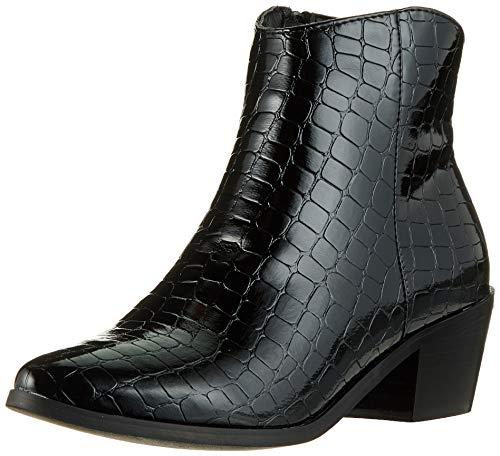 Pieces Pshelen Boot, Botines Femme, Noir (Black Black), 40 EU