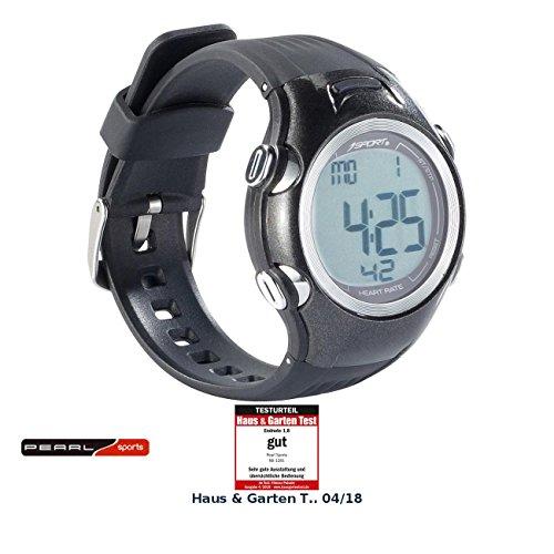 PEARL sports Pulsuhr: Fitness-Uhr, 3 Intensitätsstufen, LCD-Display, Stoppuhr-Funktion, IPX4 (Pulsuhr mit Brustgurt)