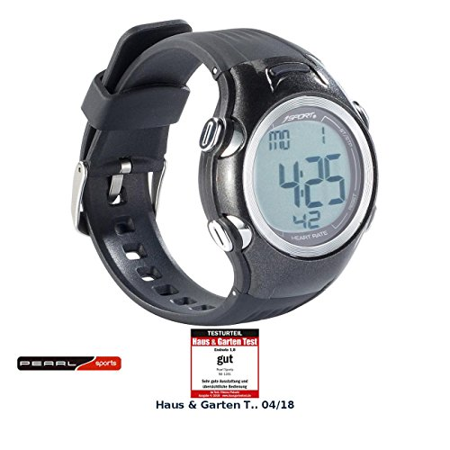 PEARL sports Fitnessuhren: Fitness-Uhr, 3 Intensitätsstufen, LCD-Display, Stoppuhr-Funktion, IPX4 (Pulsuhren)