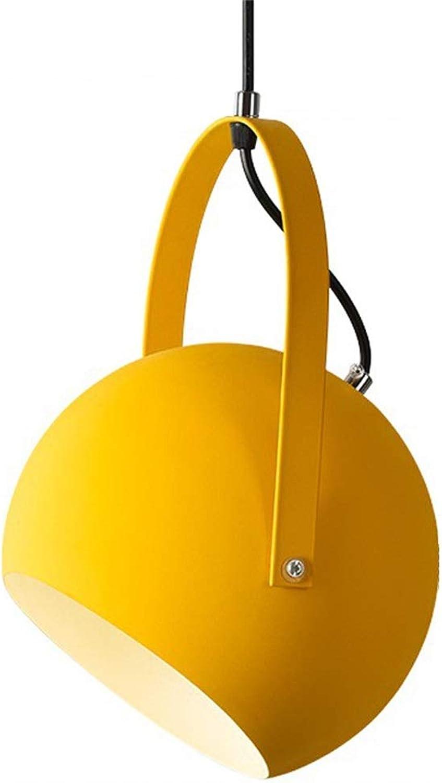 Yike-Lampe Personality Light Fixture Modern Chandelier, E27 Lampenfassung, aus Aluminium, für Restaurant, Bar, Cafe, gelb, Gre  120 x 35 x 25 (cm)