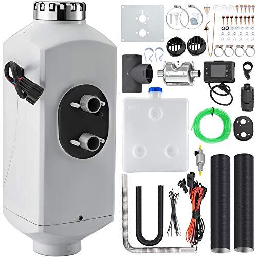 Great Deal! Happybuy 5KW Diesel Air Heater Aluminum Alloy Diesel Parking Heater 12V Diesel Heater Si...