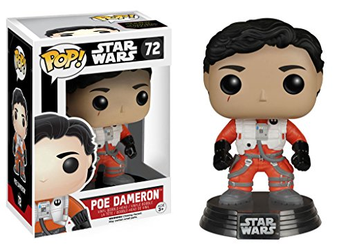 "Funko 6230 Star Wars 6230 ""Pop Bobble E7 TFA Poe Dameron Figure with/without Helmet"