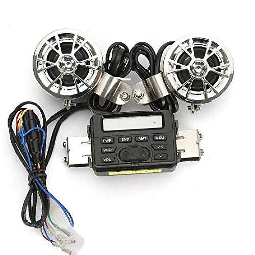 HJJH Lecteur de système Audio Bluetooth Universel pour Haut-parleurs sans Fil à LED de Moto, système Audio de Moto à l'épreuve des intempéries avec Sortie subwoofer