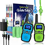 Wishouse Rechargeable Walkie Talkies for Kids Long Range with USB Charger,Outdoor Camping Games with Flashlight Indoor Fun Army Toys for Boys Girls Family,Xmas Birthday Gift for 3-12 Year Old Children
