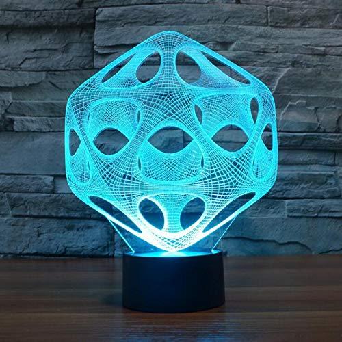 KangYD 3D Night Light Creative Hornet'S Nest, LED Optical Illusion Lamp, A - Touch Black Base(7 Color), Modern Lamp, Fashion Light, Lover Gift, Sleeping Lamp, Kid Gift
