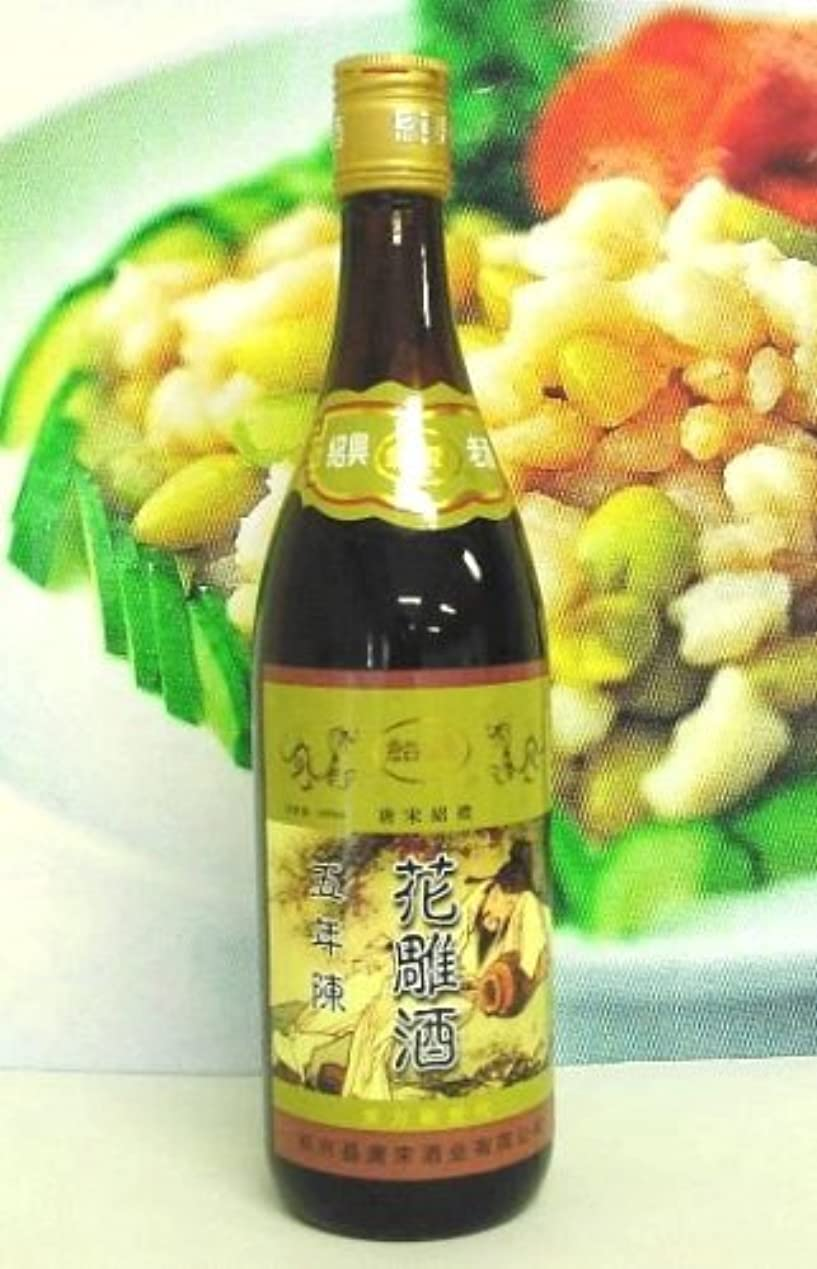 広範囲にピボット説得紹禮の五年陳花雕紹興酒640ml(黄酒神ラベル)