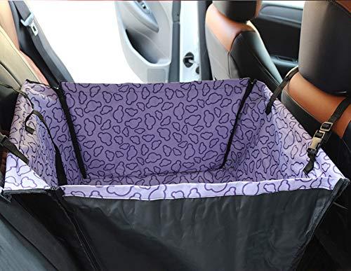 Asiento de coche para perro para asiento trasero, impermeable, suministros de coche, asiento elevador de mascotas con correa de seguridad, protector de asiento trasero, hamaca para perro o coche
