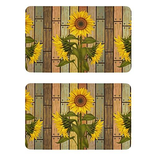 Naanle Watercolor Wooden Sunflower Refrigerator Magnets Fridge Magnets Set of 2 Locker Magnets Dishwasher Magnet Sign Magnetic Plate for Home Kitchen Office Cabinets Decorative Magnets Gift