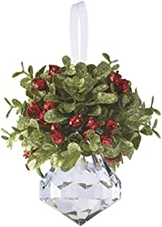 Ganz Kissing Krystal Acrylic Christmas Mistletoe Ornament with Hanger