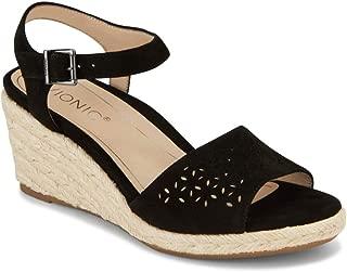 Vionic Women's Tulum Ariel Wedge Sandal - Ladies Sandals Concealed Orthotic Support