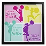 Cheer Up Gifts For Women |Cheerleader Room Decor |Inspirational Gifts For Athletes | Cheerleading Gifts For Teens |Gymnastics Presents For Girls | Teen Girl Memory Picture Frame Box