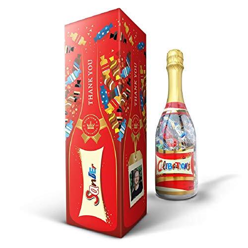 Coffret Celebrations bouteille - Personnalisé avec prénom, 312g mix chocolats