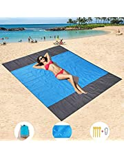 Waterproof Picnic mat Outdoor Blanket Beaches mat Temporary Tent Perfect for Picnics, Beaches, RV and Outings, Suitable for Spring, Summer and Autumn (Gray+Blue+Gray)