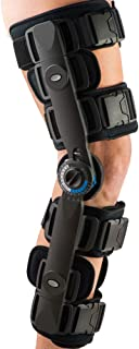 FitPro Adjustable Range of Motion Post-Op Knee Stabilizer Brace with Cool Pads, X-Large, Amazon Exclusive Brand