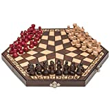 Husaria Wooden Three-Player Chess - 11 Inches