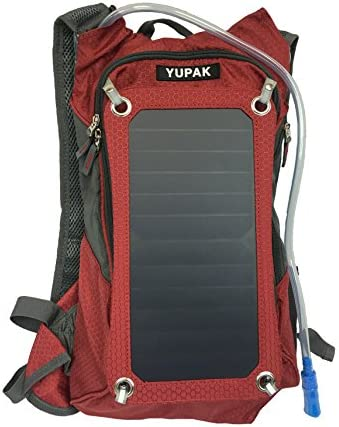 YUPAK Hydration Solar Charger Backpack with 7Watts Solar Panel 10000 mAh Power Bank product image