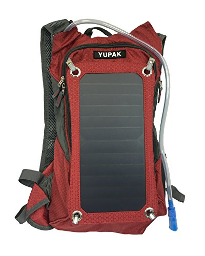 YUPAK Hydration Solar Charger Backpack with 7Watts Solar Panel & 10000 mAh Power Bank