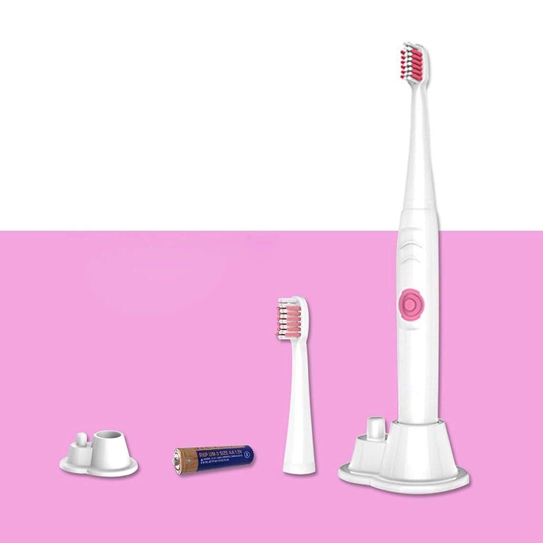 シャツレンチ細分化する電動歯ブラシ大人の子供のための、 2つの取り替えの頭部の歯ブラシIPX7の防水電池