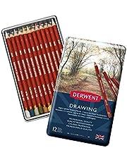 Derwent Drawıng Serisi Yağlı Kuru Kalem Seti - 12 Renk Metal Kutulu