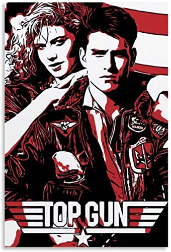 Top Gun Tom Cruise Poster Print, Wall Art, Artwork, Actor Posters for Wall, Game Room Poster, Canvas Art, No Frame Poster, Original Art Poster Gift SIZE 24''x32'' (61x81 cm)