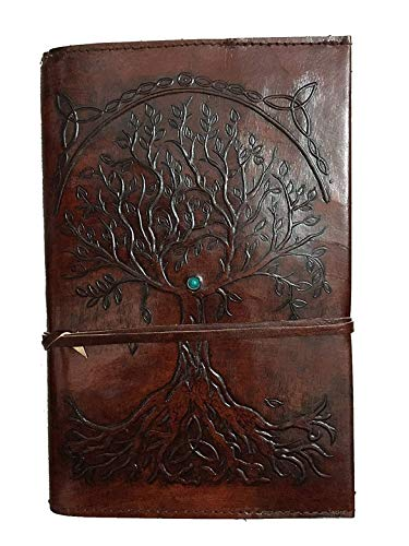 Leather Journal Refillable UnLined Paper Tree of Life Handmade Leather Journal/Writing Notebook Diary/Bound Daily Notepad for Men & Women Medium, Writing pad Gift for Artist, Sketch