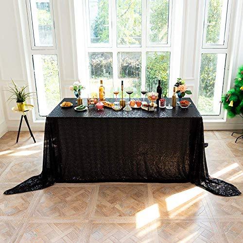 N/X Glitter Pailletten RECHTECKIG Tischdecke Paillettentisch für Hochzeitsfeier Weihnachtsdekoration Tischdecken