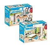 Playmobil Casa Moderna Set: 9268 Baño + 9271 Dormitorio
