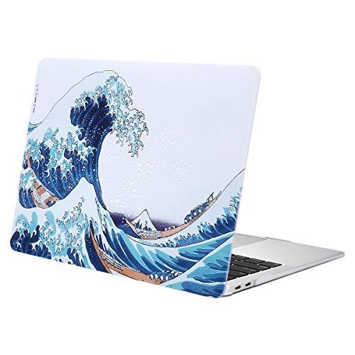 MOSISO Custodia Rigida Compatibile con MacBook Air 13 Pollici A2337 M1 A2179 A1932 con Retina Display Touch ID Versione 2020 2019 2018, Plastic Modello Case Cover, Grande Onda del Mare
