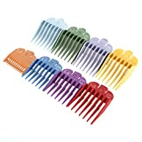 """Professional Hair Clipper Guide Combs, 8 Sets 8 Color Combs for Hair Clippers/Trimmers–8 Cutting Lengths from 1/8""""to 1"""" fits for all Wahl Clippers"""
