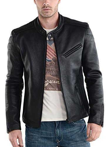 Laverapelle Men's Genuine Lambskin Leather Jacket (Black, Extra Small, Polyester Lining) - 1501008
