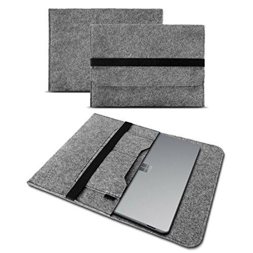 UC-Express Tablet Tasche kompatibel für Microsoft Surface Go/Go 2 / Go 3 10 Hülle Filz Hülle Schutz Cover Schutzhülle, Farbe:Grau