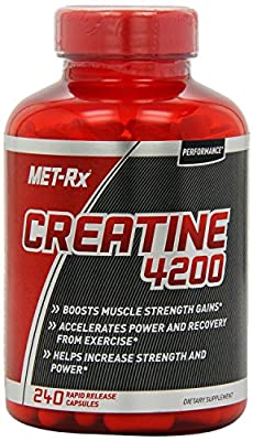 MET-Rx Creatine 4200 Supplement, Supports Muscles Pre and Post Workout