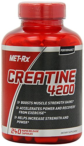 METRx Creatine 4200 Supplement Supports Muscles Pre and Post Workout 240 Capsules