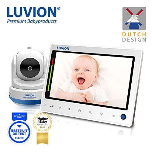 LUVION PRESTIGE TOUCH 2 - Digitales Babyphone mit Videofunktion, 7 Zoll Farbbildschirm - Weiß