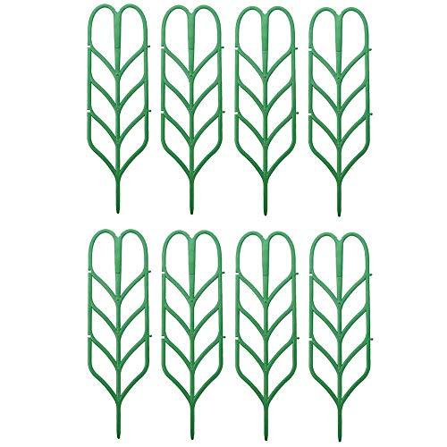 Hamkaw Impianto di Grata, Supporto per Piante in Vaso, Forma Fogliare, Piante Rampicanti, Ortaggi in Fiore, Rosa, Pisello, Edera, Cetrioli, Pepite, Supporto