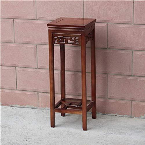 NMDD Blumenrahmen Massivholz Wohnzimmer Chinesischen Stil Antike Möbel mehrschichtige Boden Nachahmung Mahagoni Platz Bonsai Regal (Farbe: B, Größe: S)