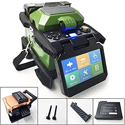 D YEDEMC SM&MM Automatic Intelligent Optical Fiber Fusion Splicer Optical Fiber Welding Splicing Machine 4.3 Inch Touch Screen Display & Fiber Cleaver Kit …