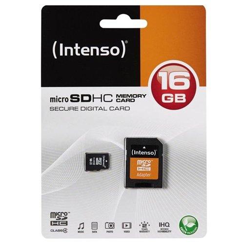 Intenso Micro SD Karte/Speicherkarte 16GB Class 4