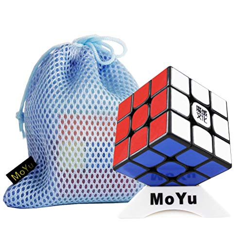 Moyu OJIN 2020 WEILONG WR M 3x3x3 Weilong WRM 3x3 Cube Puzzle Smooth Cube Sistema de Ajuste Dual Puzzle con una Bolsa de Cubo y un trípode de Cubo (Negro)