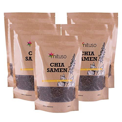 mituso Mituso Chia Semi, Confezione da 5 (5 x 1000G) - 5000 g