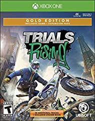 Extend your tour with the Expansion Pass, featuring two DLCs: Trials Rising Sixty Six and Trials Rising Crash and Sunburn. More than 55 additional tracks! Go bananas with the Jungle Rider custom pack, which includes a gorilla suit and an epic Camo Bi...
