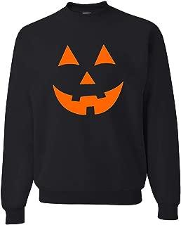Adult Jack O Lantern Pumpkin Face Halloween Funny Sweatshirt Crewneck