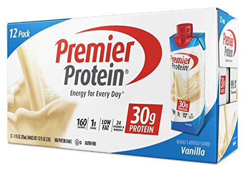 Premier Protein 30g Protein Shakes, Vanilla, 11 Fluid Ounces, 12 Count