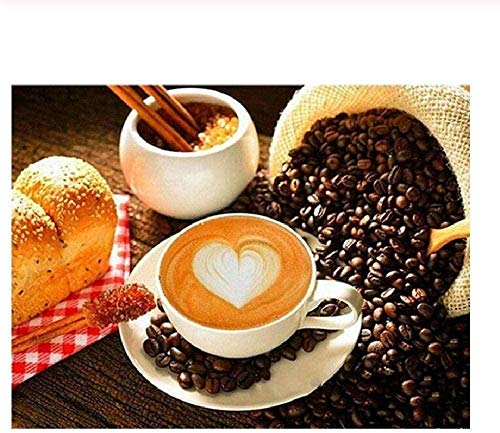Houten puzzel 1000 stukjes,puzzels Voor Volwassenen 1000 Stukjes Diy Koffie En Brood Houten Puzzels Puzzels Voor Kinderen En Ouderen Modern Interieur Wall Art Uniek Cadeau