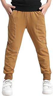 YoungSoul Pantalones para niño - Joggers Deportivos con Bajos Ajustados - Pantalon Chandal con Forro Polar