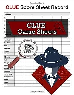 Clue Score Sheet Record, Clue Game Sheets: Clue Classic Score Sheet Book, Clue Scoring Game Record , Clue Score Card, 100 Sheets