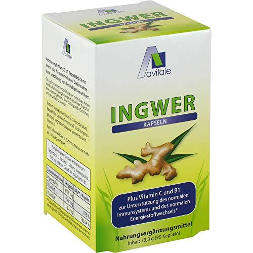 Avitale Ingwer Plus Vitamin C und B1 Kapseln, 90 St. Kapseln